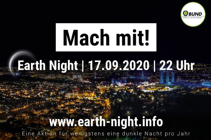 Mach mit: Earth Night am 17. September 2020