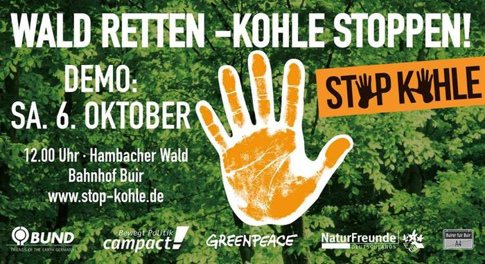 Demonstration Wald retten - Kohle stoppen!