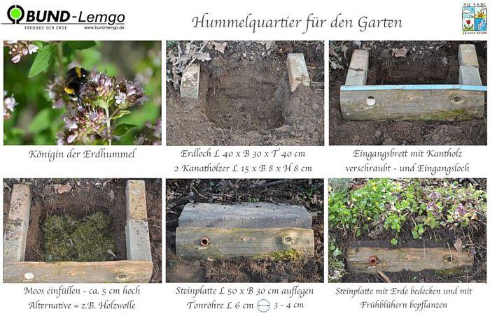 Hummelquartier für den Garten