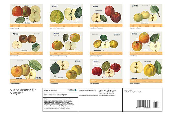 BUND-Jahreskalender 2022: Alte Apfelsorten für Allergiker