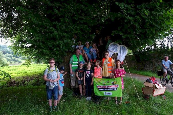 Exkursionsgruppe: Kinder vom Ferien(s)pass Höxter/Boffzen mit dem BUND in Corvey