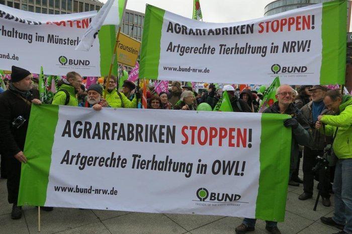 """""""Wir haben es satt!""""-Demo in Berlin"""