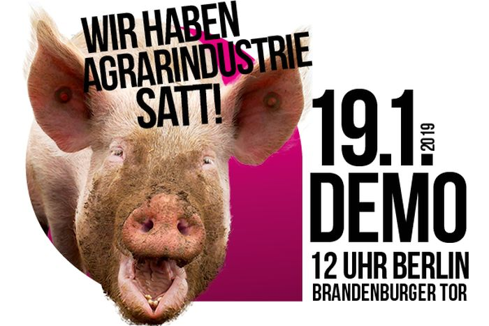 9. Wir haben es satt - Demonstration in Berlin