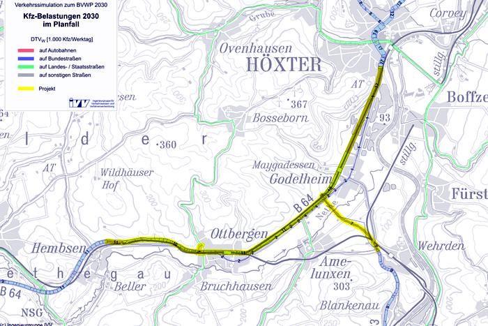 Bundesverkehrswegeplan 2030: B64-B83-G90-NW