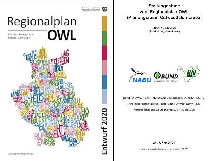 Stellungnahme zum Regionalplan OWL - Entwurf 2020