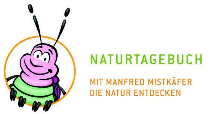 Logo Naturtagebuch: Manfred Mistkäfer