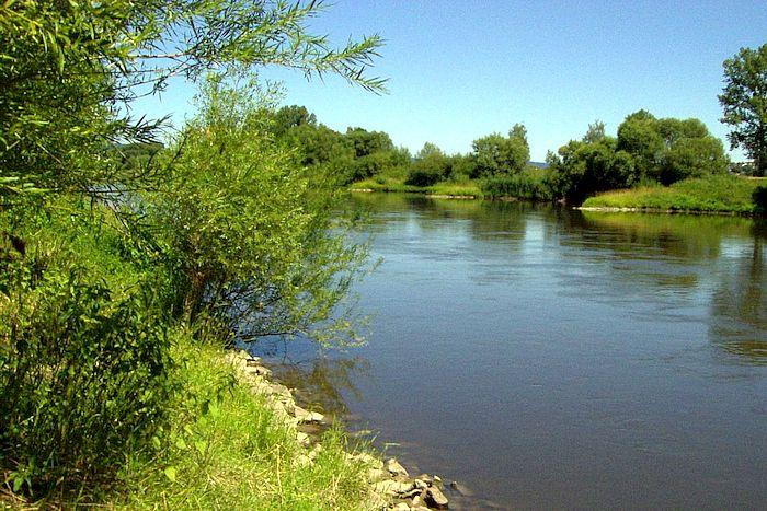 Hauptgerinne der Weser in Corvey
