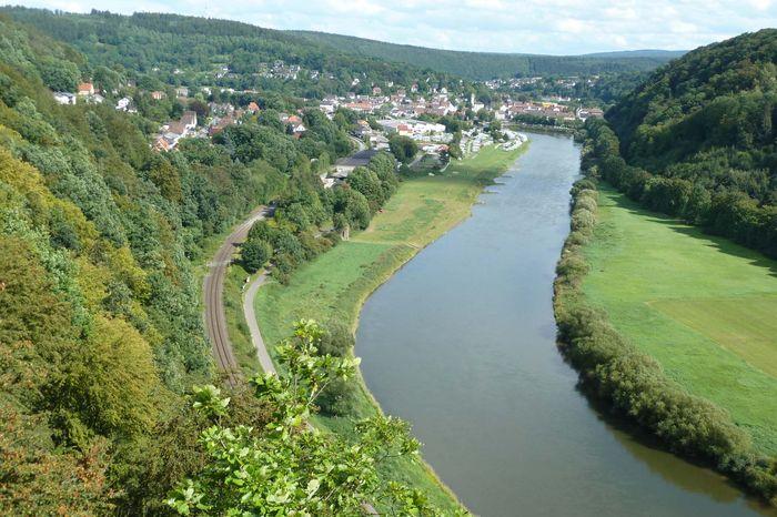 Blick von den Hannoverschen Klippen auf die Weser