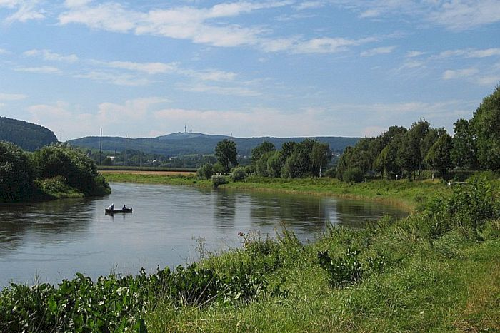 Die Weser zwischen Höxter und Holzminden